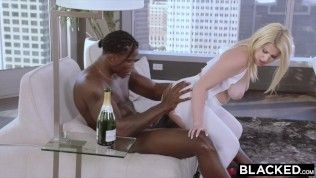 BLACKED 18 years outdated blonde with huge ass is black cock ONLY