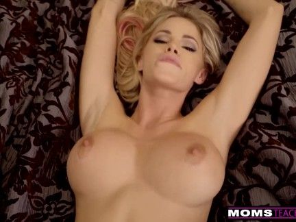 MomsTeachSex - Cumming On My Sizzling Stepmoms Massive Tits! S9:E4