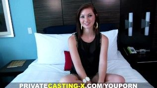 Non-public Casting X - My first pure red-haired pussy