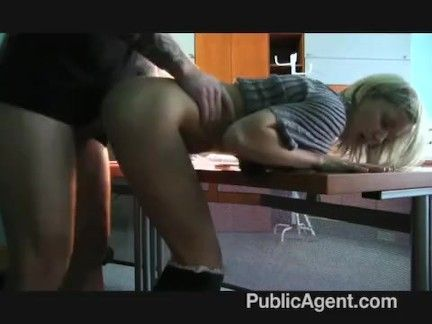 Workplace secretary fucked by a tough cock
