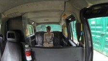 FakeTaxi - Lesbian trys a giant cock