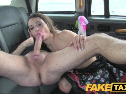 Pretend Taxi Sizzling Anal in Halloween costume