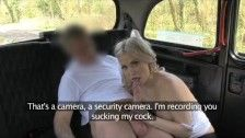 Scorching blonde vacationer in first time blowjob