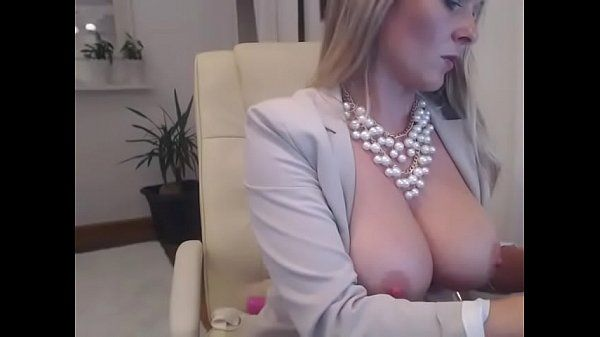 Busty office lady toying pussy free cam sex