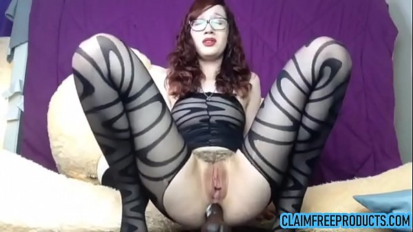 Horny anal slut with glasses riding dildo on cam - claimfreeproducts.com