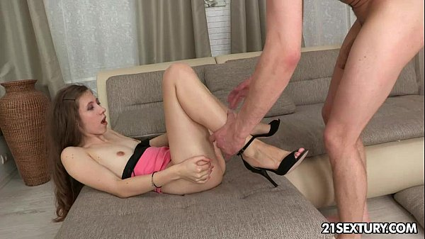 Teen Stefanie conquers with her tight asshole