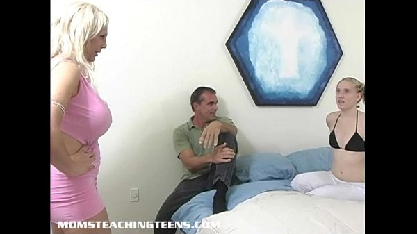 Teen Tina gets blowjob and anal lesson from busty milf