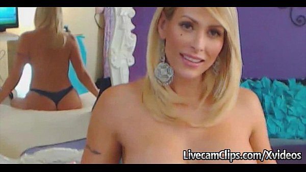 Amazing Blonde Babe's Big Tits Hot Live Cam Show!