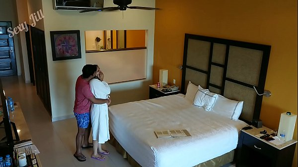 Young girl m., f. to fuck and creampied against her will by hotel room intruder spy cam POV Indian
