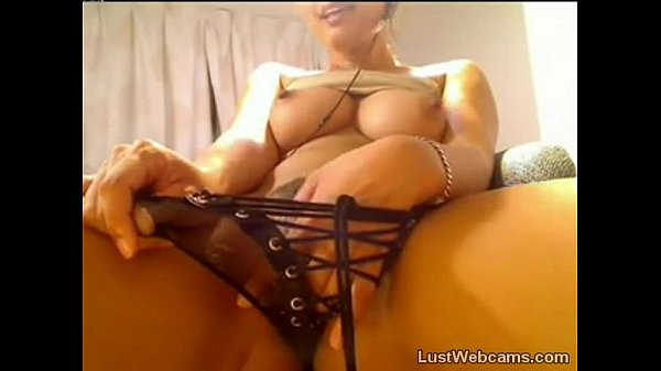 Busty Asian cam babe plays with her pussy