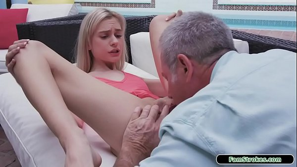 Teen gets fucked outdoors by stepgrandpa